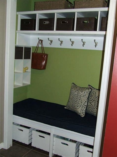 entryway closet storage ideas shelterness a mudroom closet 1000 about