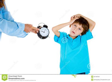 time to go to bed a kid forced to go to bed by mom stock images image