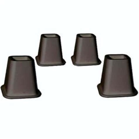 home depot bed risers merrick black plastic bed risers set of 4 c90402 br the