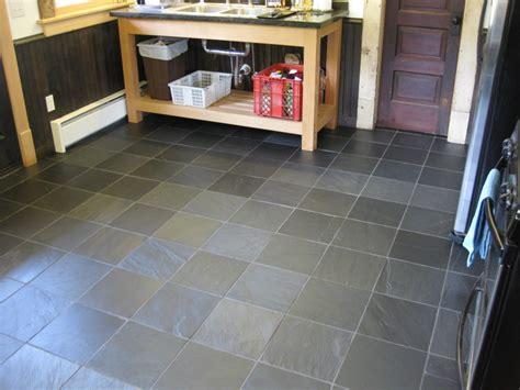 tiled kitchen floors ideas slate kitchen flooring afreakatheart