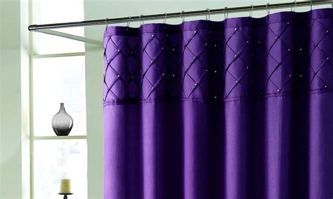 eggplant colored shower curtain roxanne shower curtain with rhinestones groupon
