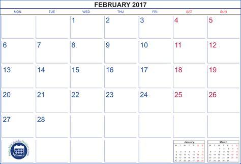 february 2017 calendar printable 2017 calendar