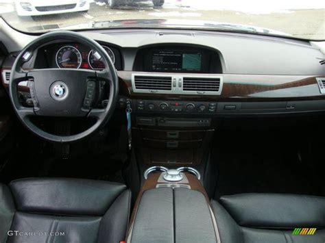 2002 bmw 7 series 745li sedan black dashboard photo
