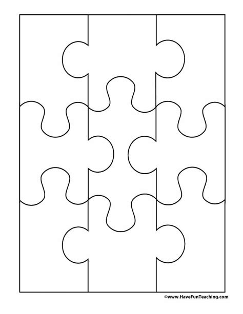 puzzle blank template 19 printable puzzle templates template lab