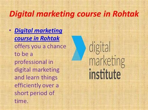 ppt digital marketing course in dwarka janakpuri digital marketing course in rohtak authorstream