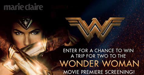 Marie Claire Sweepstakes - marie claire sweepstakes attend the wonder woman movie premiere screening