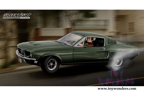 Grrenlight Ford Mustang 1968 ford mustang gt with steve mcqueen figure top