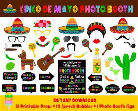 printable photo booth props mexican printable cinco de mayo photo booth props photo booth sign