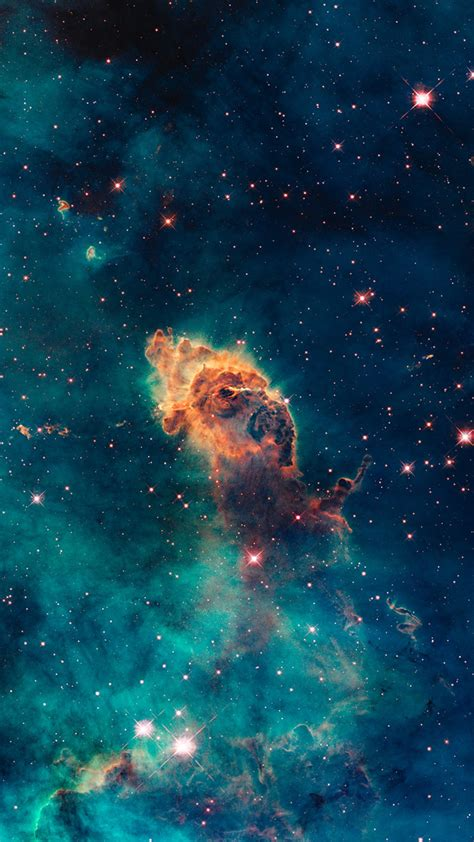 wallpaper ruang galaksi vertikal tampilan potret