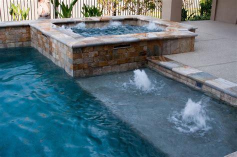 Remodeling Bathroom Ideas For Small Bathrooms cypress custom pools raised spa amp sun shelf w