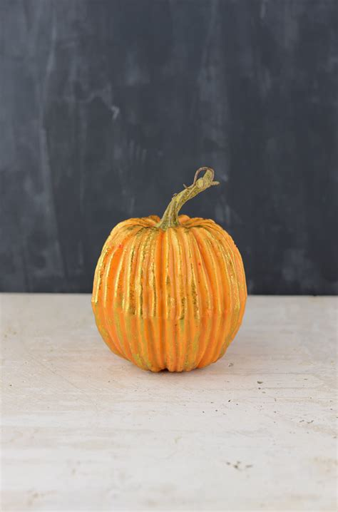 artificial pumpkin orange 6x5in