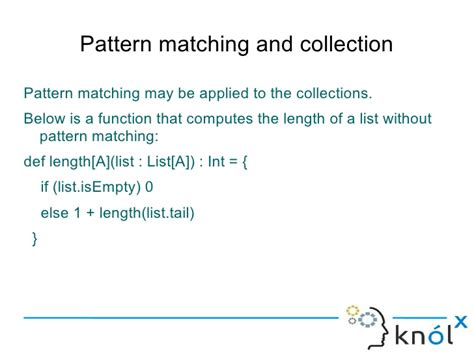 pattern matching scala list introducing pattern matching in scala