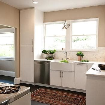 kitchen tiled walls ideas white kitchen with copper accents transitional kitchen