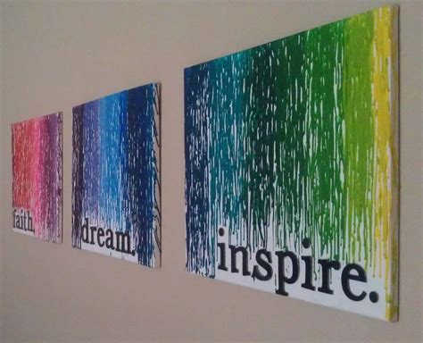 Beautiful Project by Inspire Yourself With Melted Crayon Wall Diy