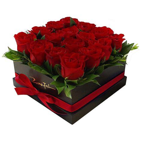 imagenes en rojas caja con 16 rosas rojas rosatel