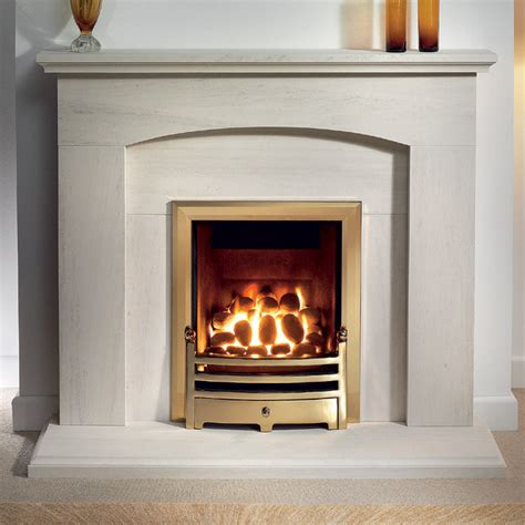 Portuguese Limestone Fireplace by Gallery Cartmel Portuguese Limestone Fireplace Suite