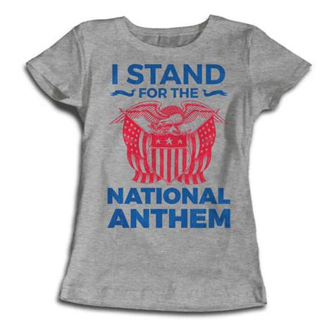Tahirt Anthem i stand for the national anthem t shirt national anthem
