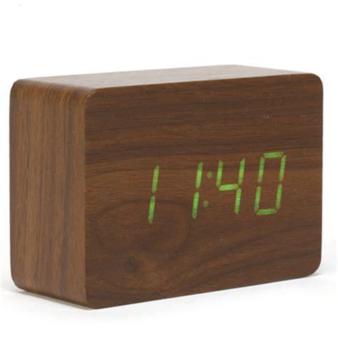 small desk clocks alarm clock modern desk clock small digital led wooden