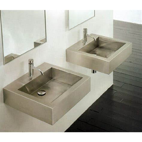 bathroom sinks stainless steel square vessel bathroom
