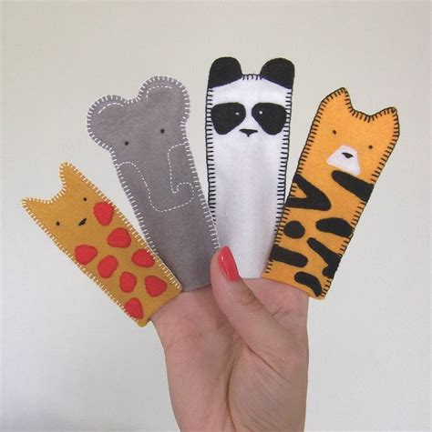 Finger Puppets With Paper - best photos of animal finger puppets felt animal finger
