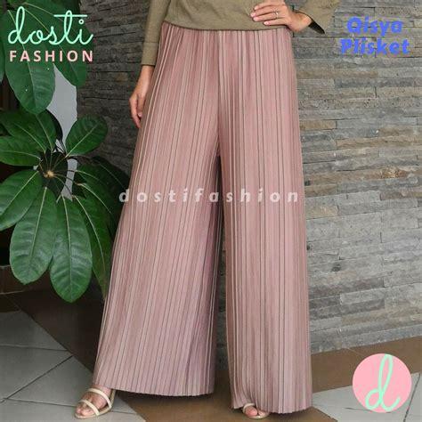 Kulot Plisket Premium By Conba Id promo celana kulot panjang wanita model plisket prisket