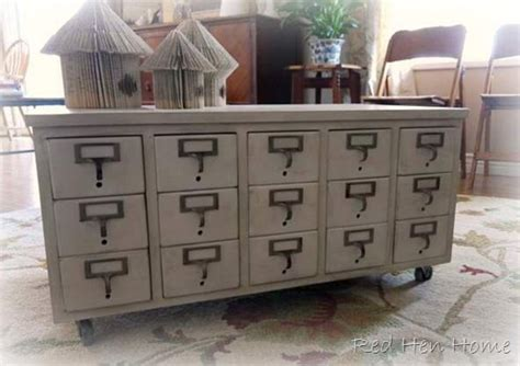 coffee table catalog 8 repurposed card catalogs