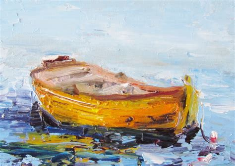 row boat canvas art painting of the day daily oil paintings by delilah row