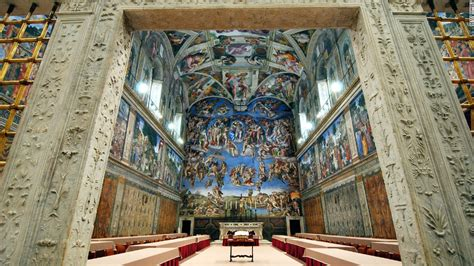 The Painting On The Ceiling Of The Sistine Chapel by Photos The Sistine Chapel