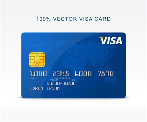 credit card freebie vector visa credit card by graphberry on deviantart