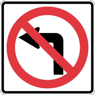 no left parking and traffic sign no left turn symbol reflective stonehouse signs