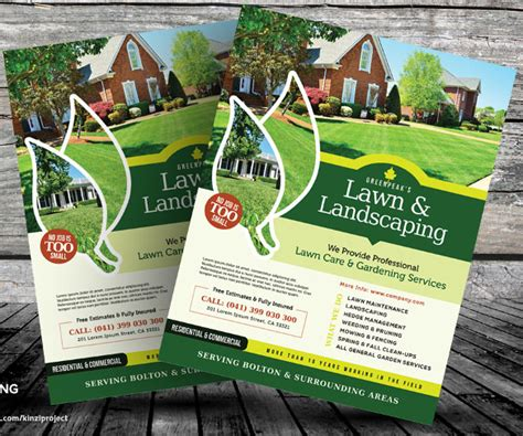 lawn care flyers templates anuvrat info
