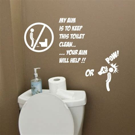 Witzige Wandtattoos by Bathroom Wall Quotes Quotesgram
