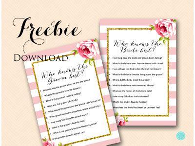 printable co ed bridal shower games free coed bridal shower games who knows bride groom