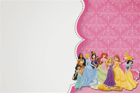 free disney templates disney princess blank background for invitation www