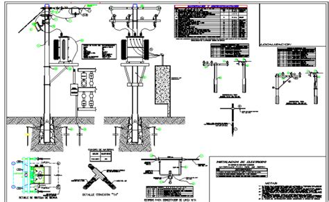 electrical transformers for lights lighting pole mounted electrical transformer details dwg file