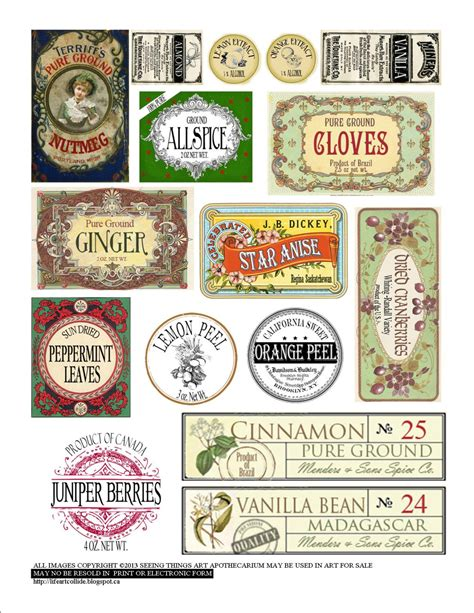 Yellow Kitchen Canister Set vintage style spice labels