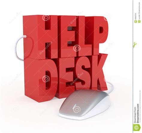 Computer Help Desk by Help Desk Stock Illustration Image Of Message Help
