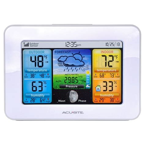 acurite color weather station color weather station with forecast temperature