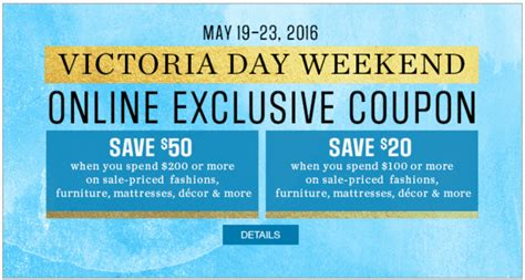 home decorators coupon 50 off 200 sears canada victoria day weekend offers save 50 off