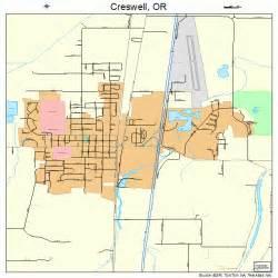 creswell oregon map creswell oregon map 4116950
