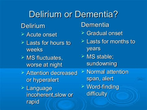Detoxing From On A 80 Year With Dementia by Delirium