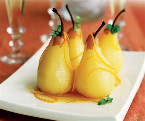 recette 233 conomique poires poch 233 es 224 l orange