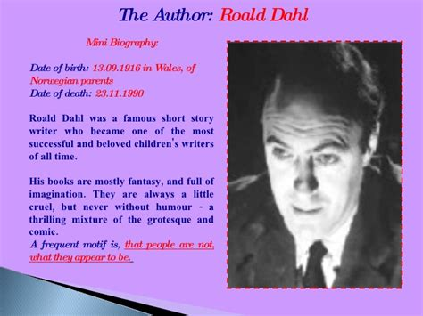 roald dahl biography for students project book