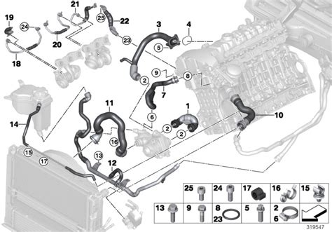 Bmw 135i Line Engine Feed Coolant Pump Cooling Yes