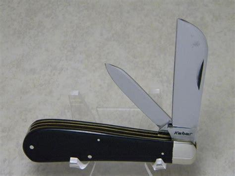 kabar c knife kabar black 2 blade hawkbill pruner knife c pre 1963