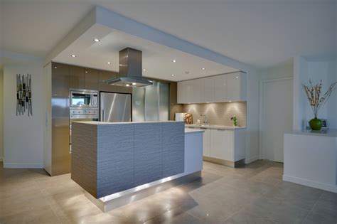 led puck lights kitchen contemporary with built in