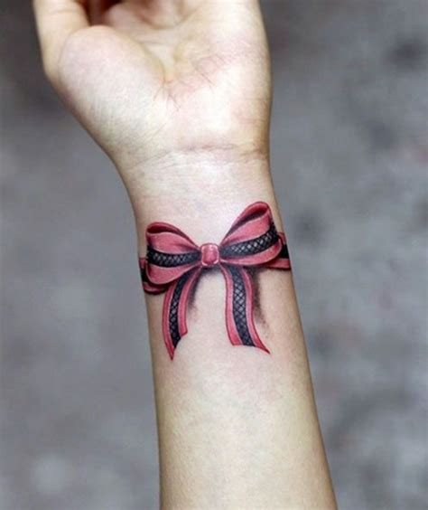 bow tattoos on wrist amazing 3d bow on wrist