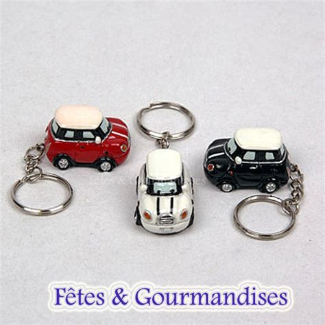 porte clef pour voiture mini cooper porte clef figurine bapteme mariage communion