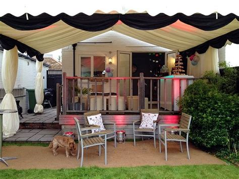 small marquee for garden home demise