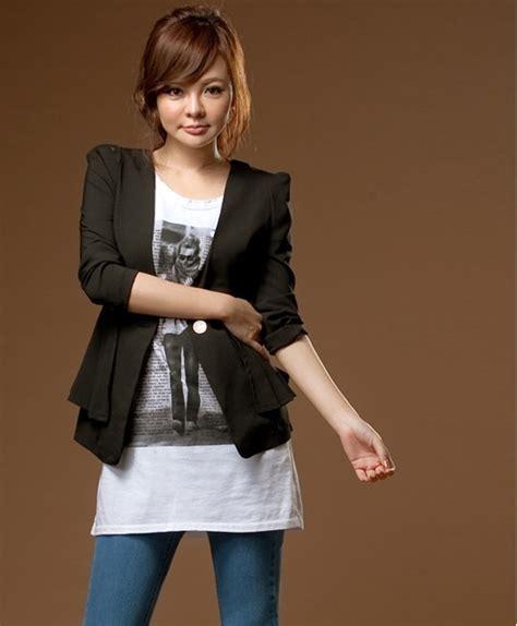 blazer wanita korea bunga terbaru blazer korea wanita trend pelautscom picture car